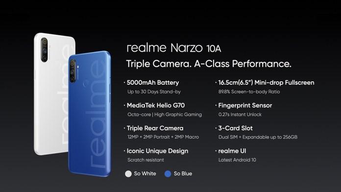 Realme Narzo 10a Specs