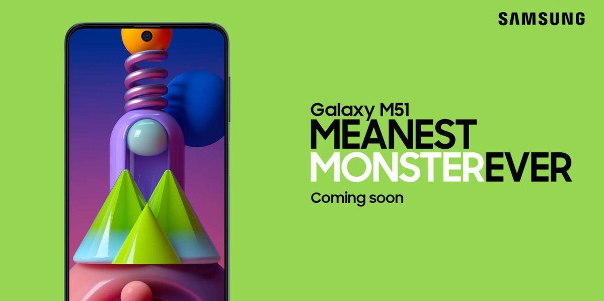 Samsung galaxy m51 india launch teaser