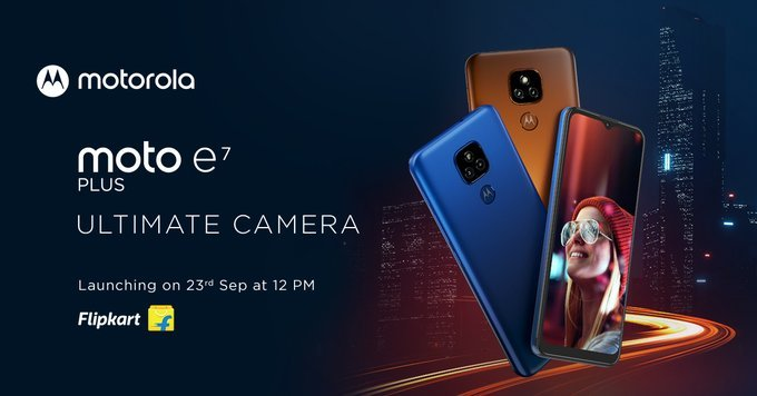 Moto E7 Plus India launch date