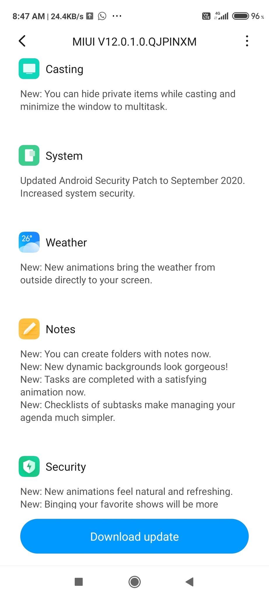 Poco M2 Pro MIUI 12 Update what's new 2