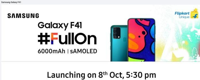 Samsung Galaxy F41 India