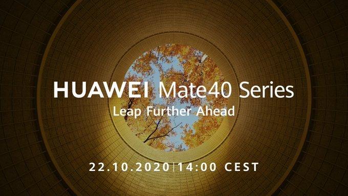 Huawei Mate 40 launch date