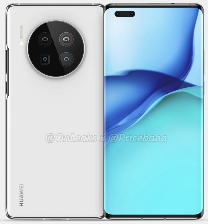 Huawei Mate 40 pro design leaked