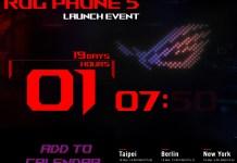 ASUS ROG Phone 5 launch date