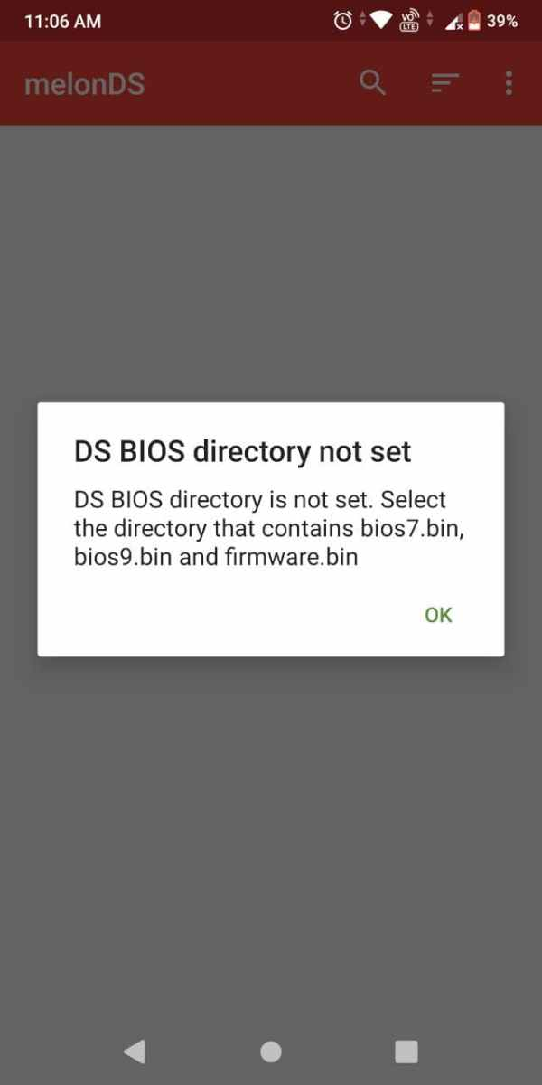 Melonds android emulator select bios directory