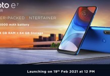 Moto E7 Power India launch date