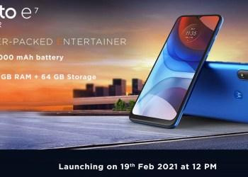 Moto E7 Power India launch date
