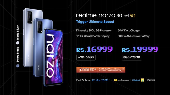 Realme Narzo 30 Pro 5G price in India
