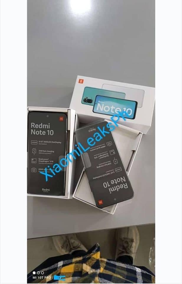leaked Redmi Note 10 specs sheet