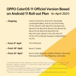 Oppo ColorOS 11 update roll-out plan announced for India and Asia