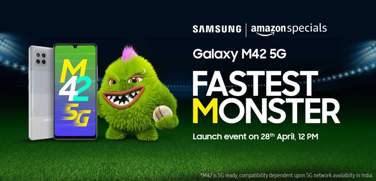 Samsung Galaxy M42 5G India launch date