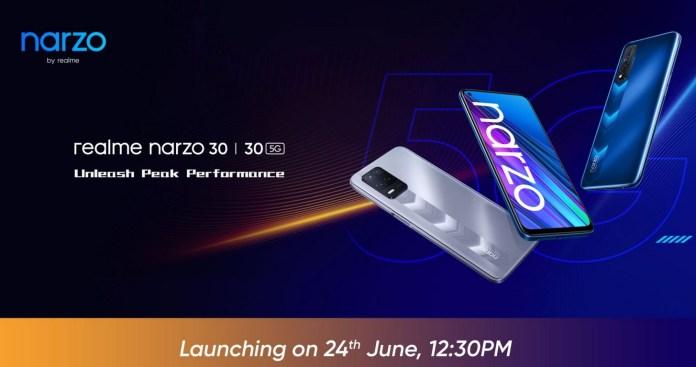 Realme Narzo 30 5G and Realme Narzo 30 India launch date