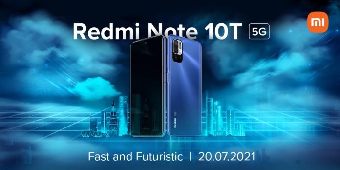 Redmi Note 10T 5G India launch date
