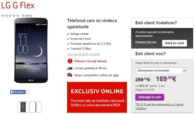 Untitled LG G Flex - Reducere De Pret La Vodafone