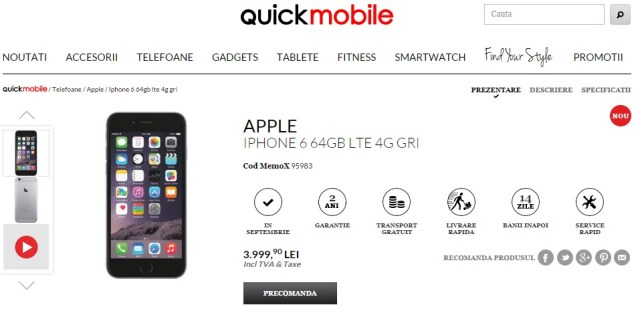 Untitled Noul iPhone 6 Adus In Romania - Preturi