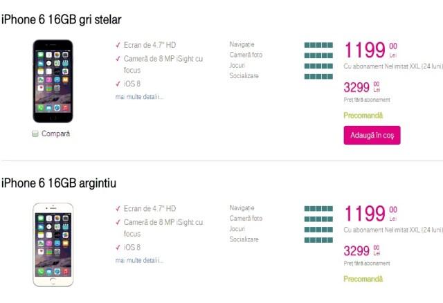 jkl;jJKLNLKHBVIU3D612QXTC5SDFIUYHP['] Telekom Anunta Pretul Pentru iPhone 6