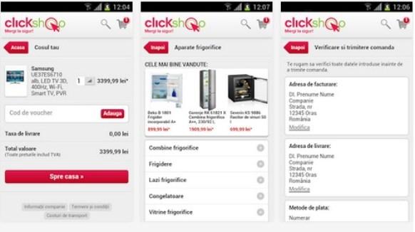 clikshopaplixc Aplicatii Android Ale Magazinelor Online Romanesti