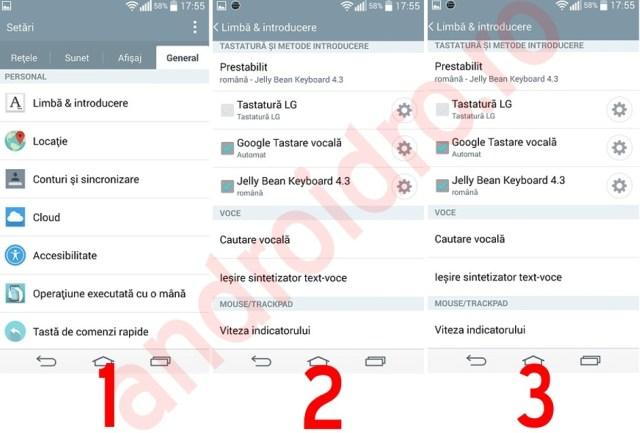 1111111 Setari tastatura Android