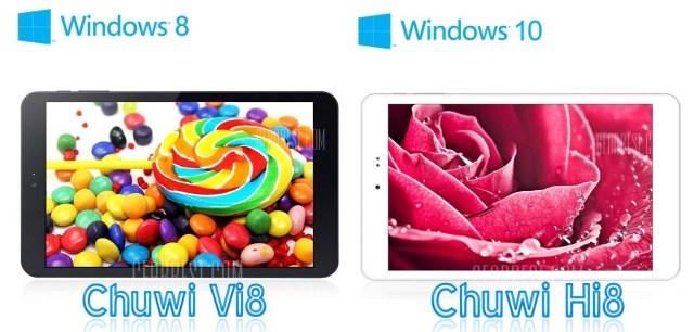 33 Chuwi Hi8 si Vi8 tablete dual boot in depozitele UE gearbest