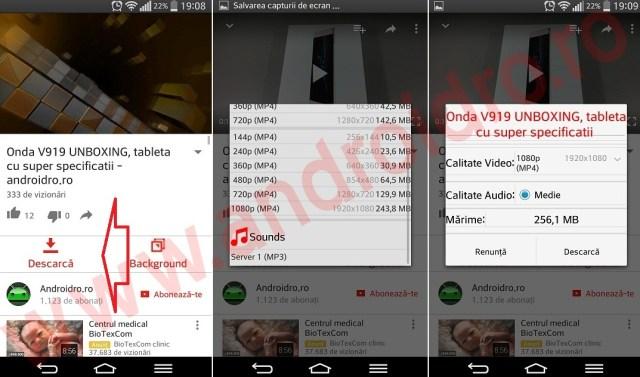 1 Descarca clipurile de pe YouTube pe telefon direct din aplicatie