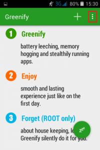 2 Greenify, o aplicatie pentru multitasking