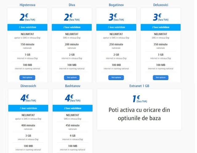 rtrt Digi Mobil introduce cartele de la 2E cu minute nelimitate si internet
