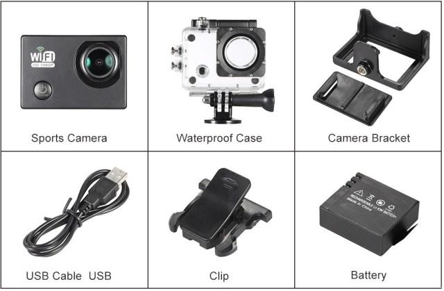D3586Bh Camera video sport chiar ieftina cu filmare Full HD la 30 fps
