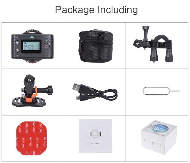 d3868_08 Andoer - camera video sport VR cu lentile wide, unghi 220 grade si senzor de 8MP