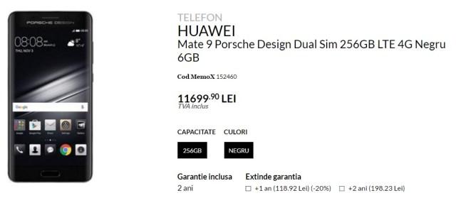HUAWEI Mate 9 Porsche Design in Romania la quickmobile, pret mare!