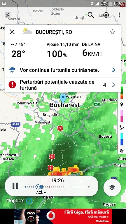 aplicatii meteo utile, fulgere in timp real, ploi, radar si furtuni