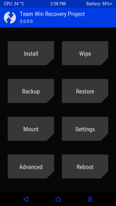 Theme twrp blue