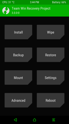 Theme twrp green