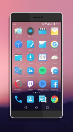 Android N theme screen shot for Huawei 2