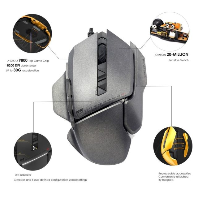 JamesDonkey 007 Gaming Mouse Android Sage 4