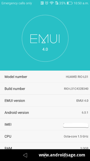 Download Android 6.0 Marshmallow For Huawei G8 GX8 B340 EMUI 4