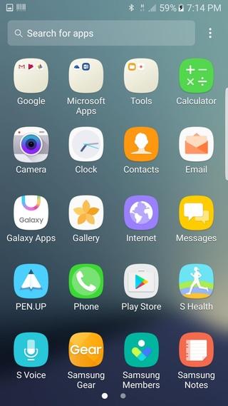 Download Note 7 ROM app drawer Screenshots