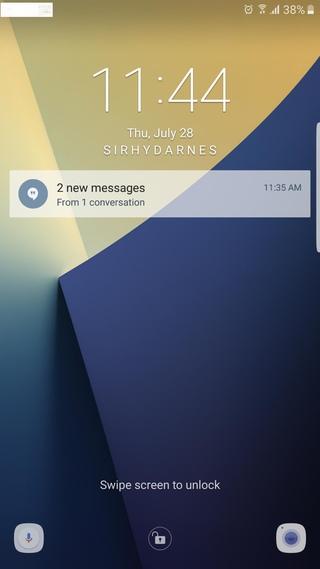 Samsung galaxy note 7 N930F N930FXXU1APG7 lockscreen