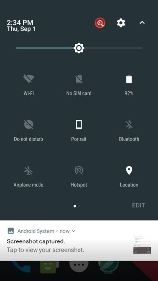 cyanogenmod 14 notification panel nougat screenshots