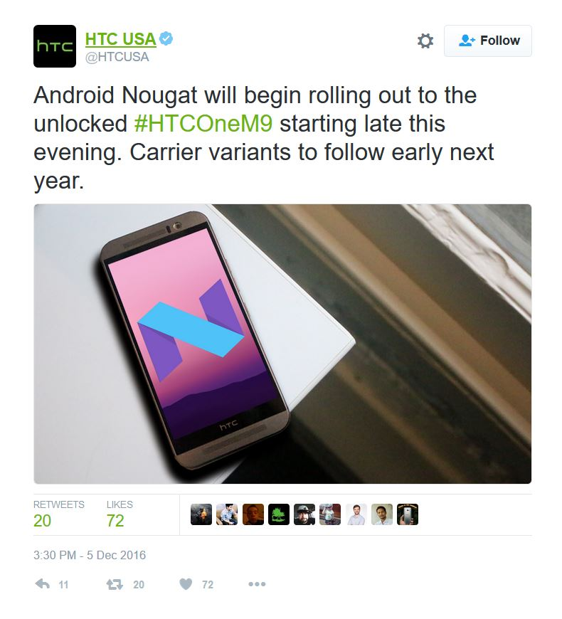 download htc one M9 nougat ota and stock RUU files