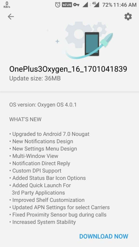 download oxygen os 4.0.1 changelog
