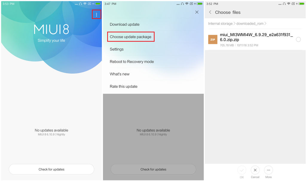 how to update Xiaomi devices via stock recovery