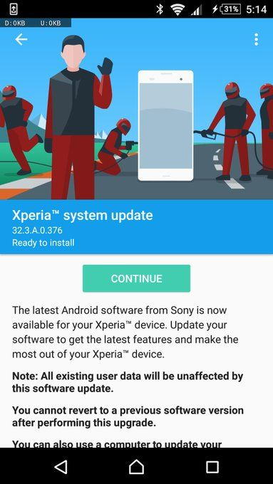 Download Android 7.0 Nougat 32.3.A.0.376 firmware for Xperia Z5 Z3 Z4