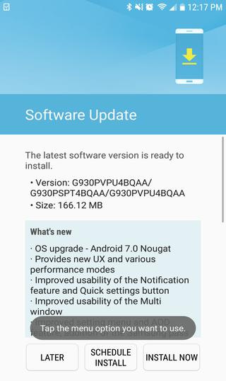 Download nougat 7.0 for Sprint galaxy s7 edge