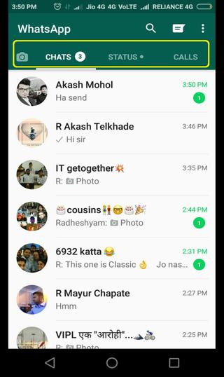 new whatsapp UI