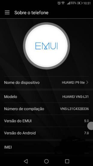 Huawei P9 lite EMUI 5.0 Nougat update