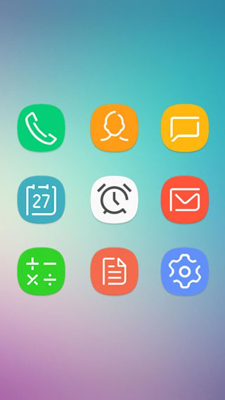 Samsung galaxy S8 theme icons Dream UX port