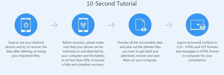 10 second tutorial on how to restore deleted files from Android