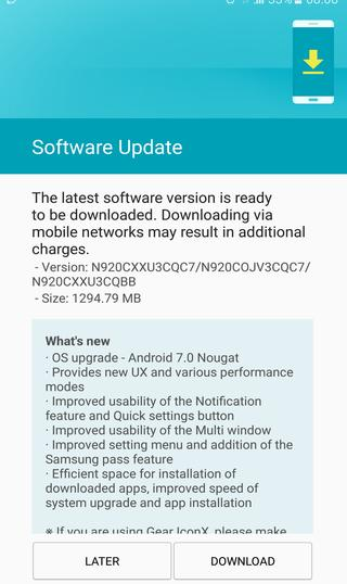nougat 7.0 for Samsung Galaxy note 5 SM-N920C