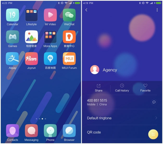 MIUI Mi 6 Official Stock Theme for other Xiaomi devices screenshots