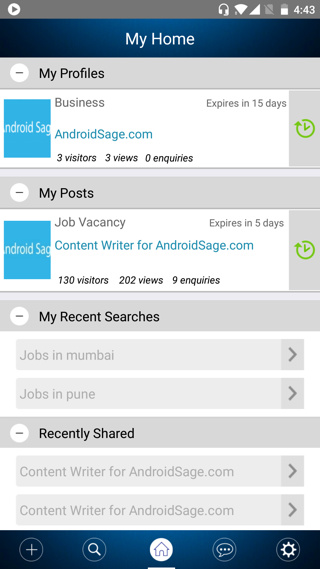 Create business profiles for free with Workapp Android
